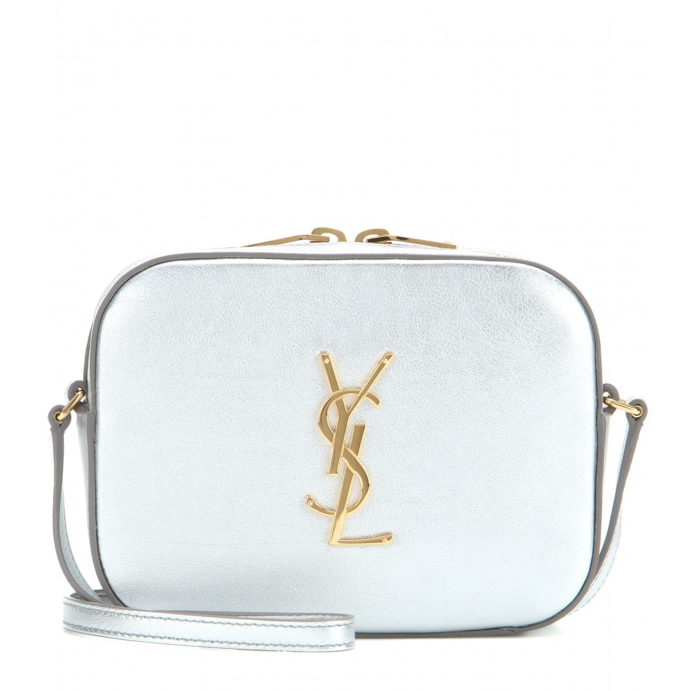 ysl cabas price - monogram metallic leather crossbody bag, silver