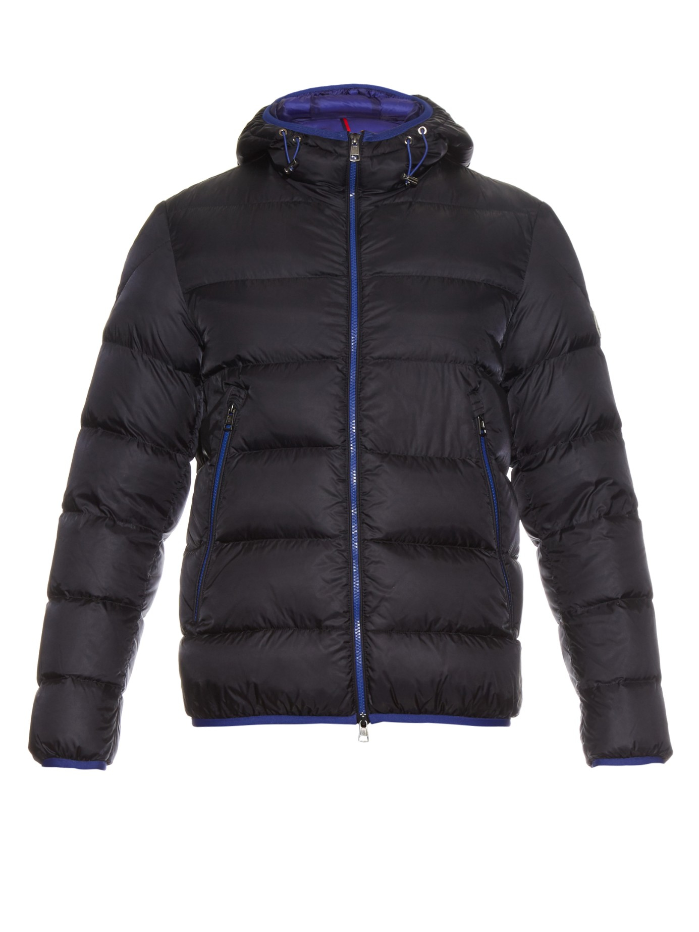 bc32f0047 Blue Hooded Chauvon Coat in down Moncler for Lyst Quilted Men aOq0xw