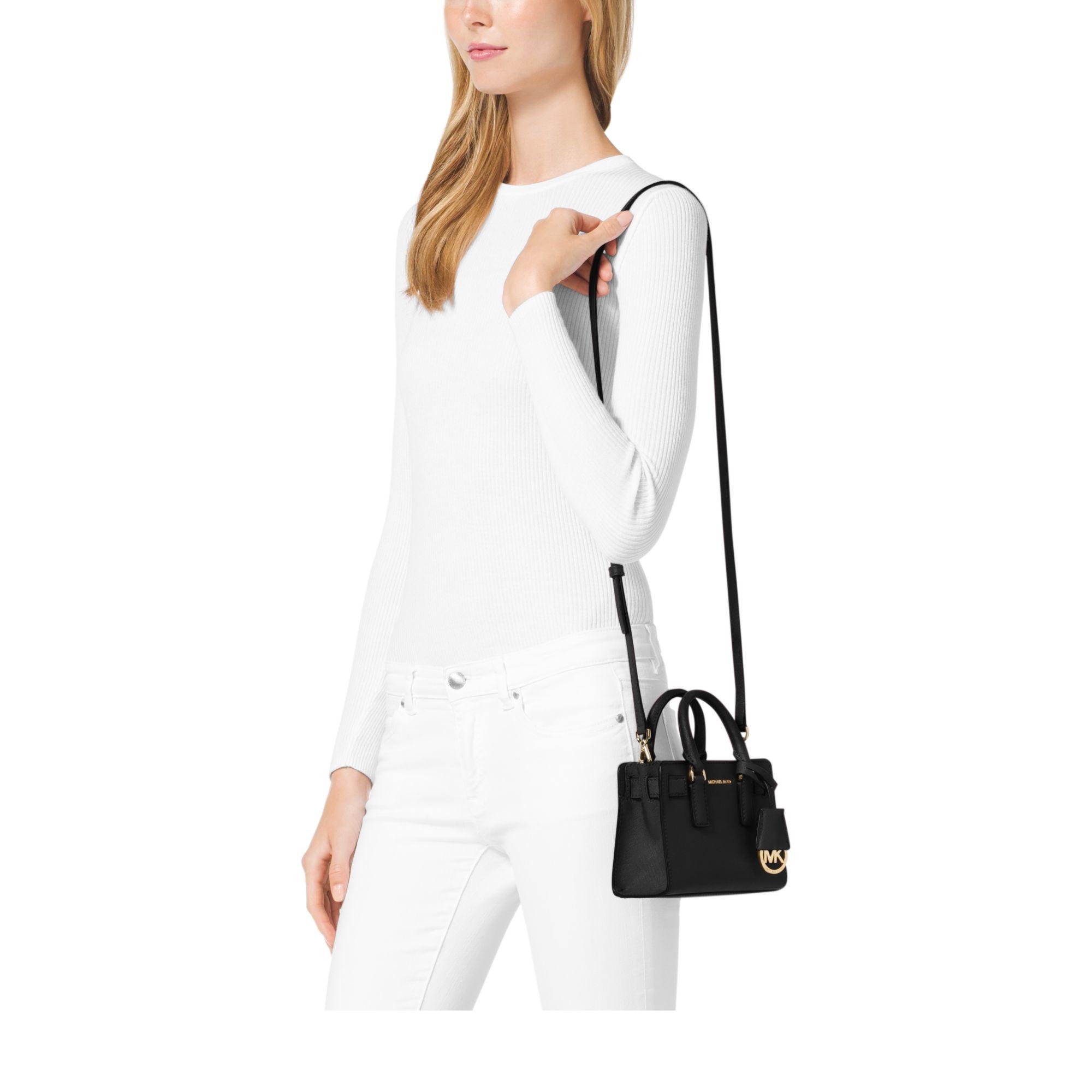 732e8718c Michael Kors Dillon Extra-Small Cross-Body Bag in Black - Lyst