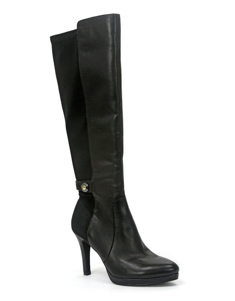 tahari garrett boots in black lyst