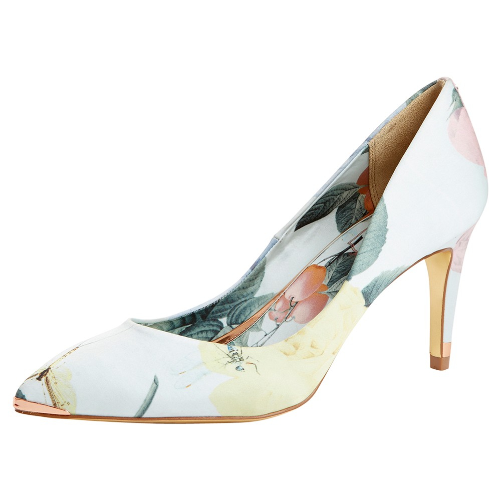 0a9269548 Ted Baker Charmesa Print Court Shoes in Green - Lyst