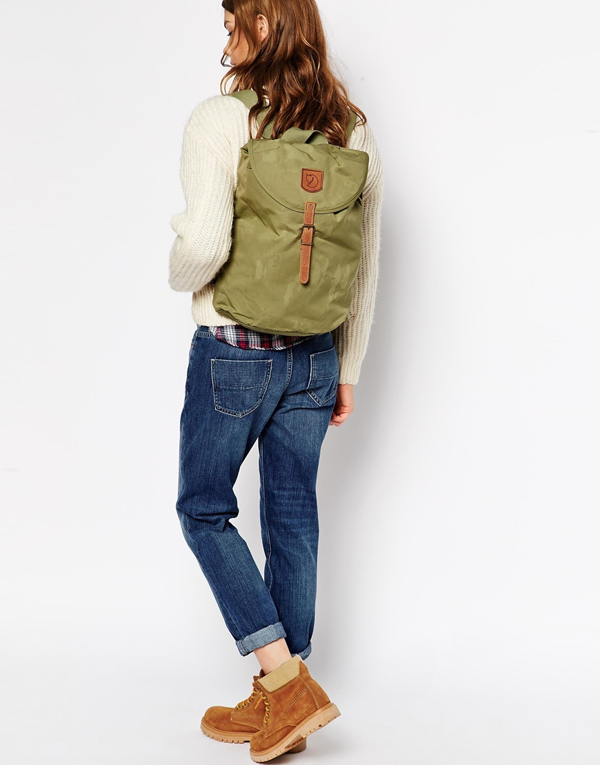 079684fd1c08 Lyst - Fjallraven Greenland Small Backpack in Green