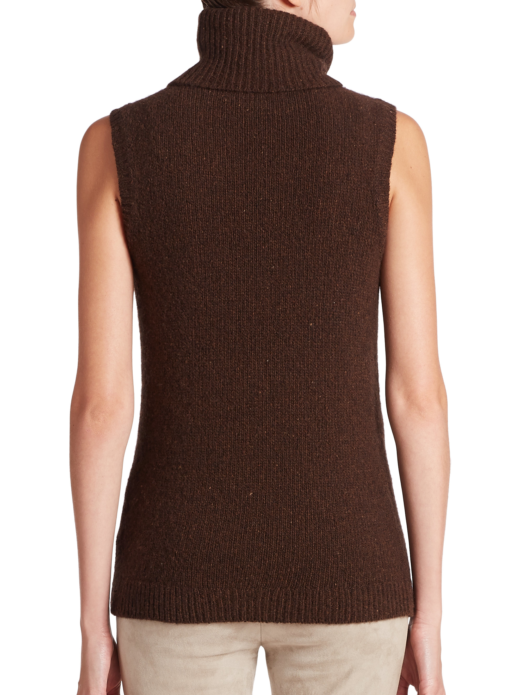 4be0af6e2effe Lyst - Ralph Lauren Black Label Donegal Cashmere Sleeveless ...