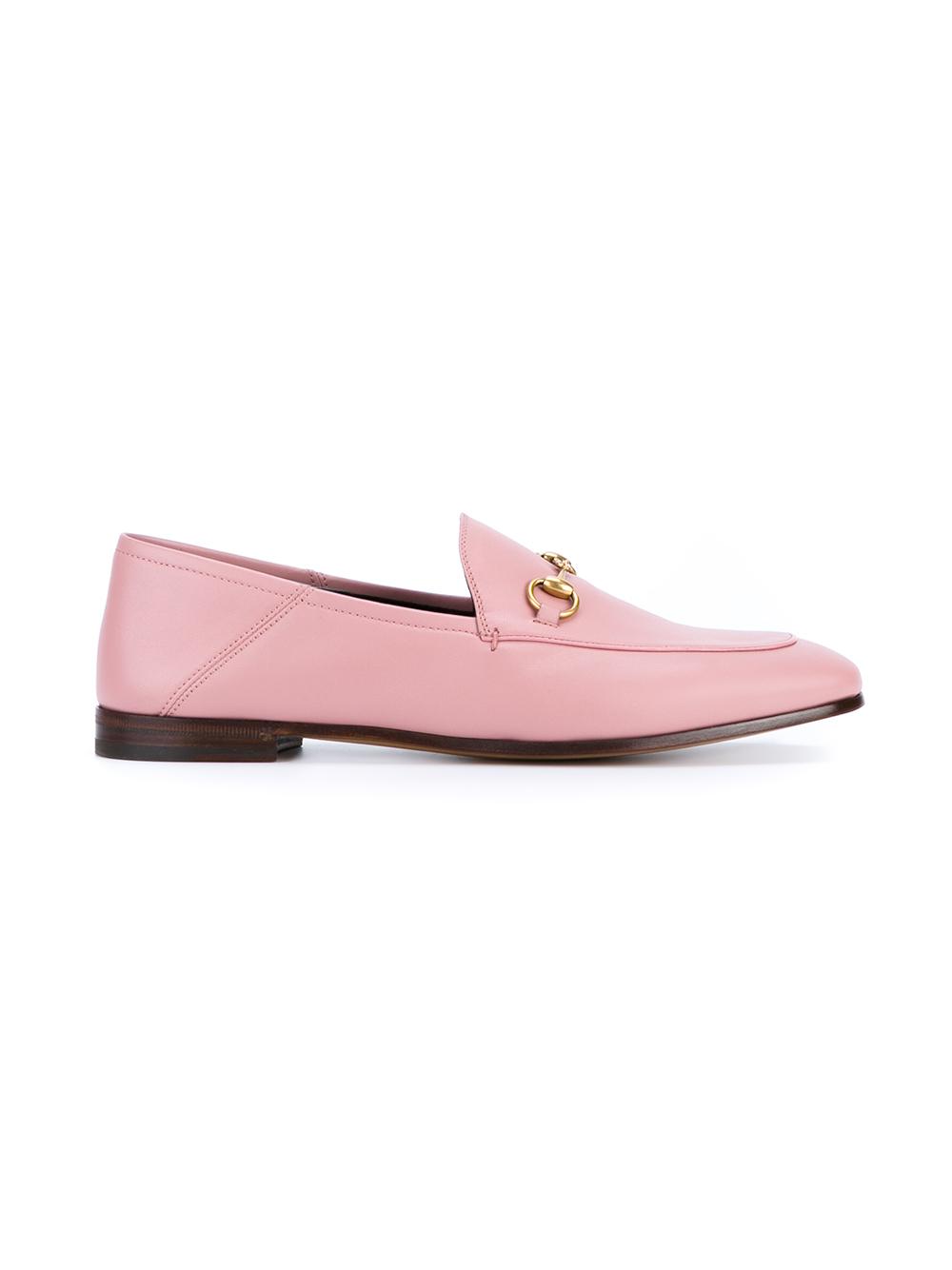 Lyst - Gucci Jordaan Horsebit Loafers in Pink
