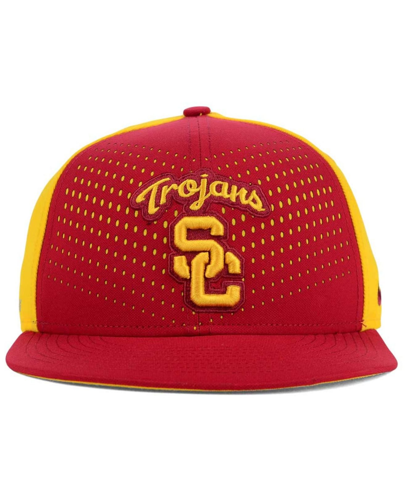 1ae5cfd7211df ... netherlands lyst nike usc trojans true seasonal snapback cap in red for  men 86213 b72f2