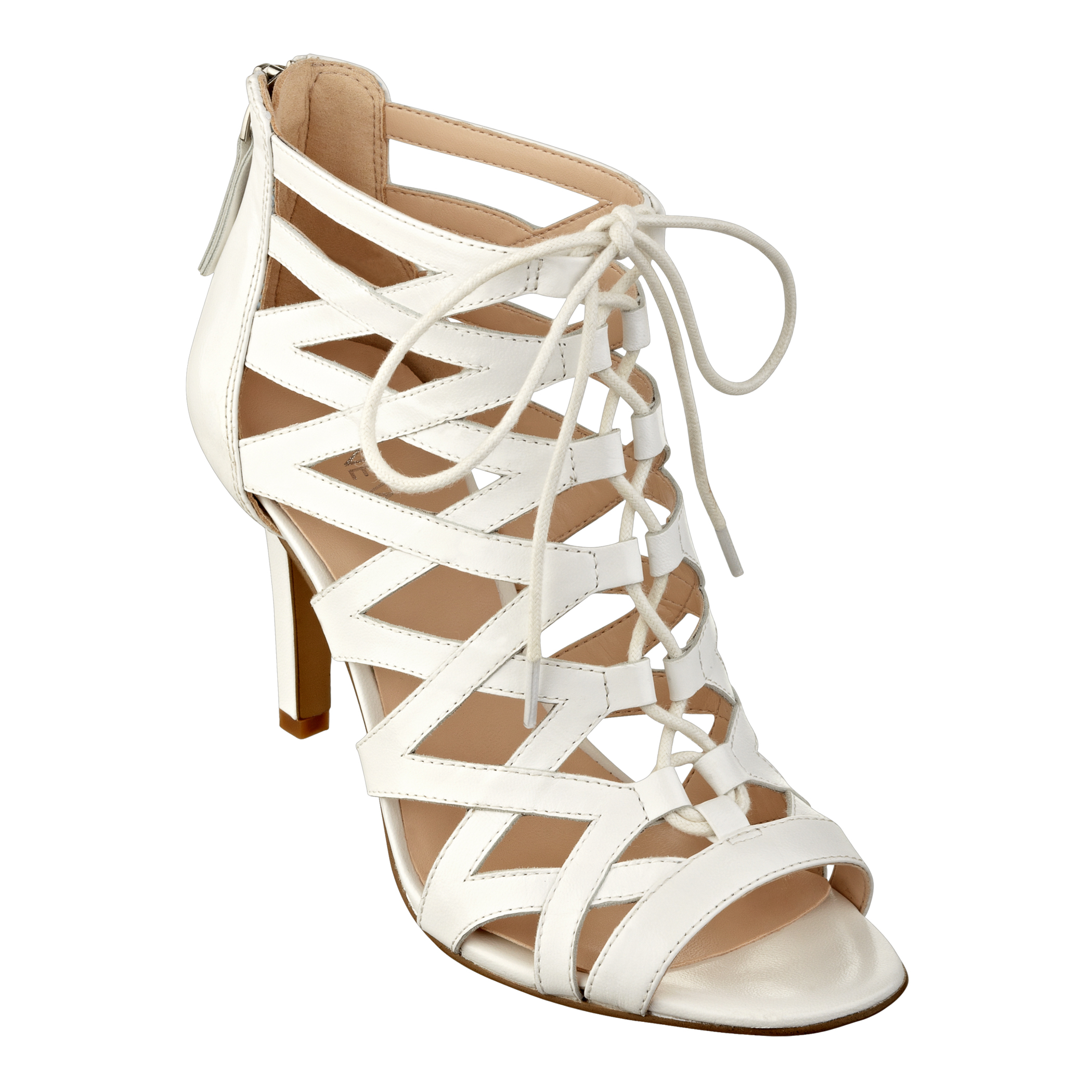White Lace Bootie Shoes