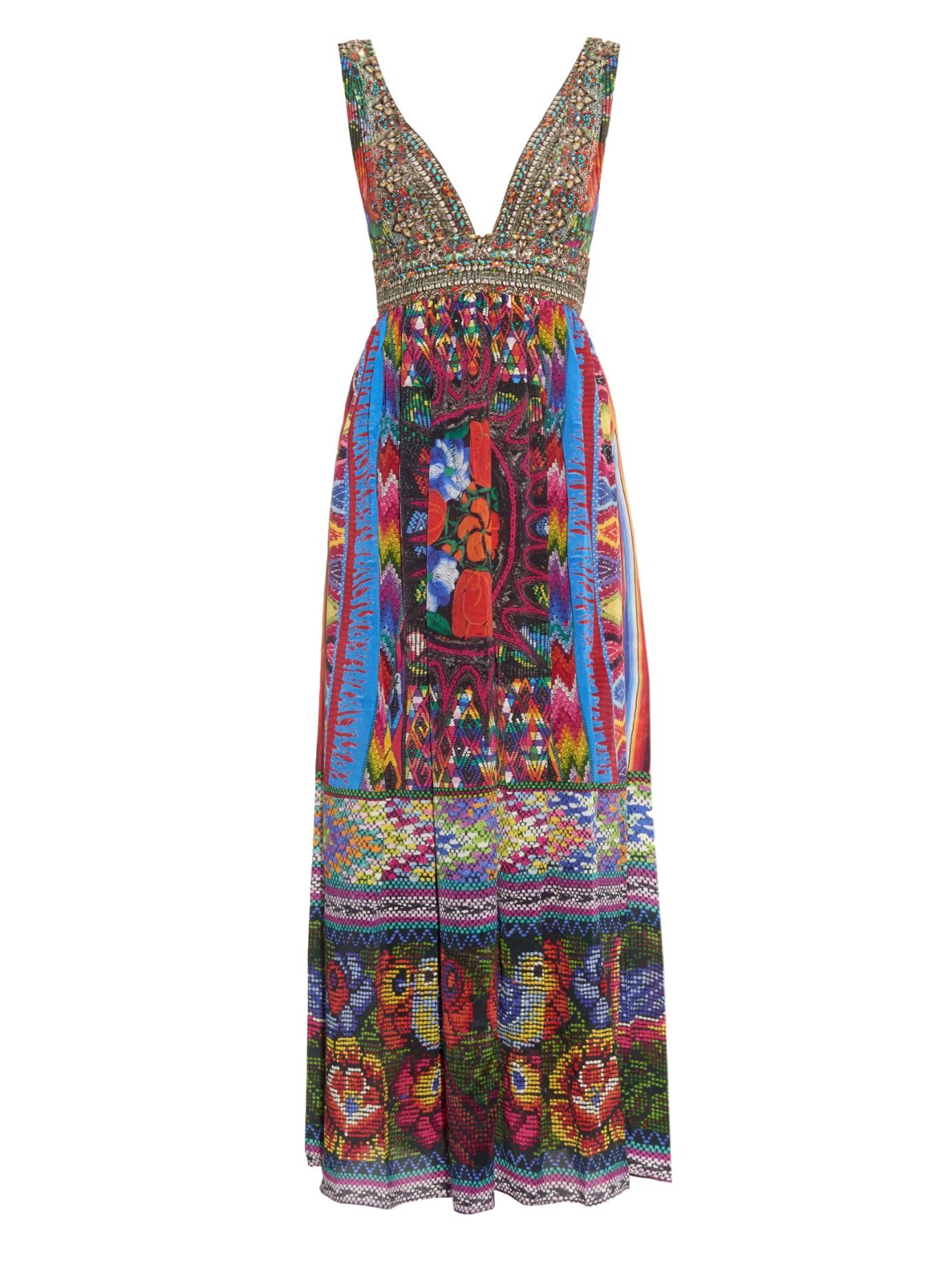 multi-print maxi dress - Blue Camilla NH4wMx