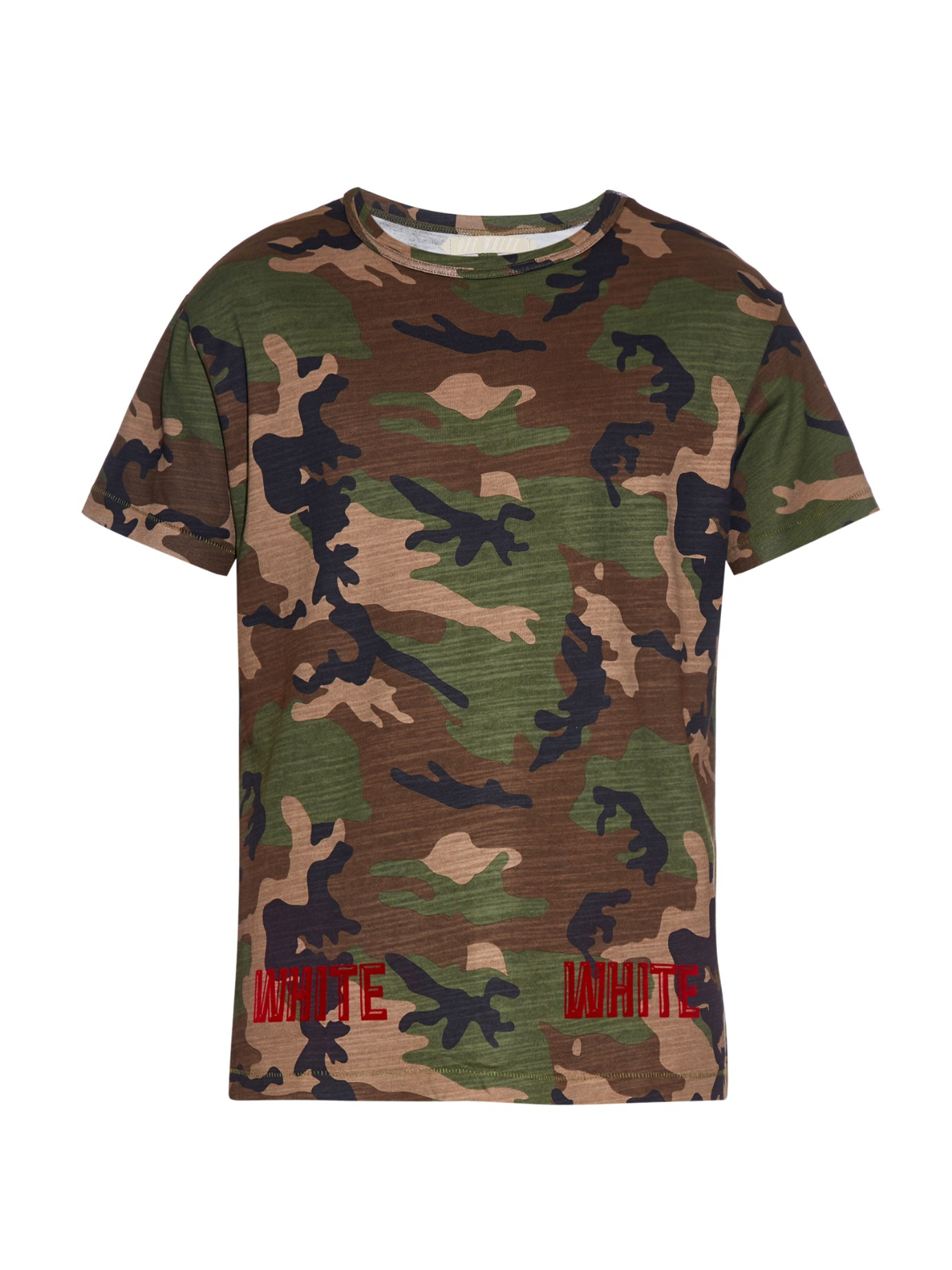 off white c o virgil abloh camouflage print t shirt in