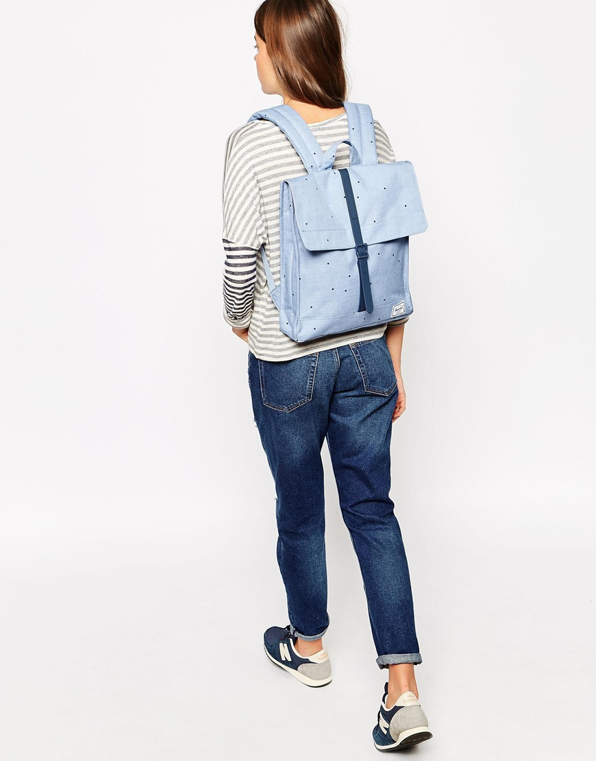 Lyst - Herschel Supply Co. City Backpack In Chambray Blue Spot in Blue