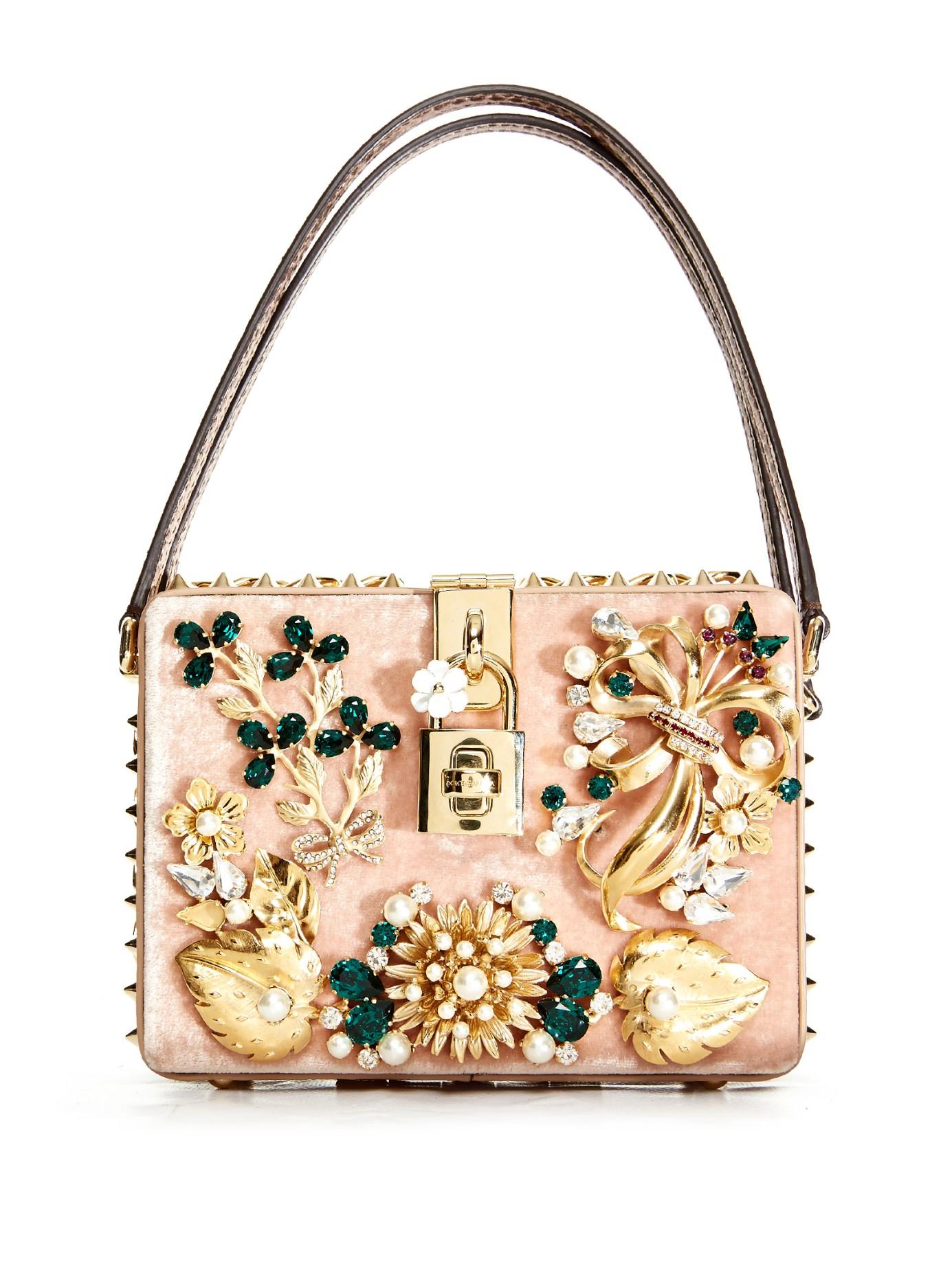 774b0de5d39d Dolce   Gabbana Dolce Mama Embellished Box Bag - Lyst