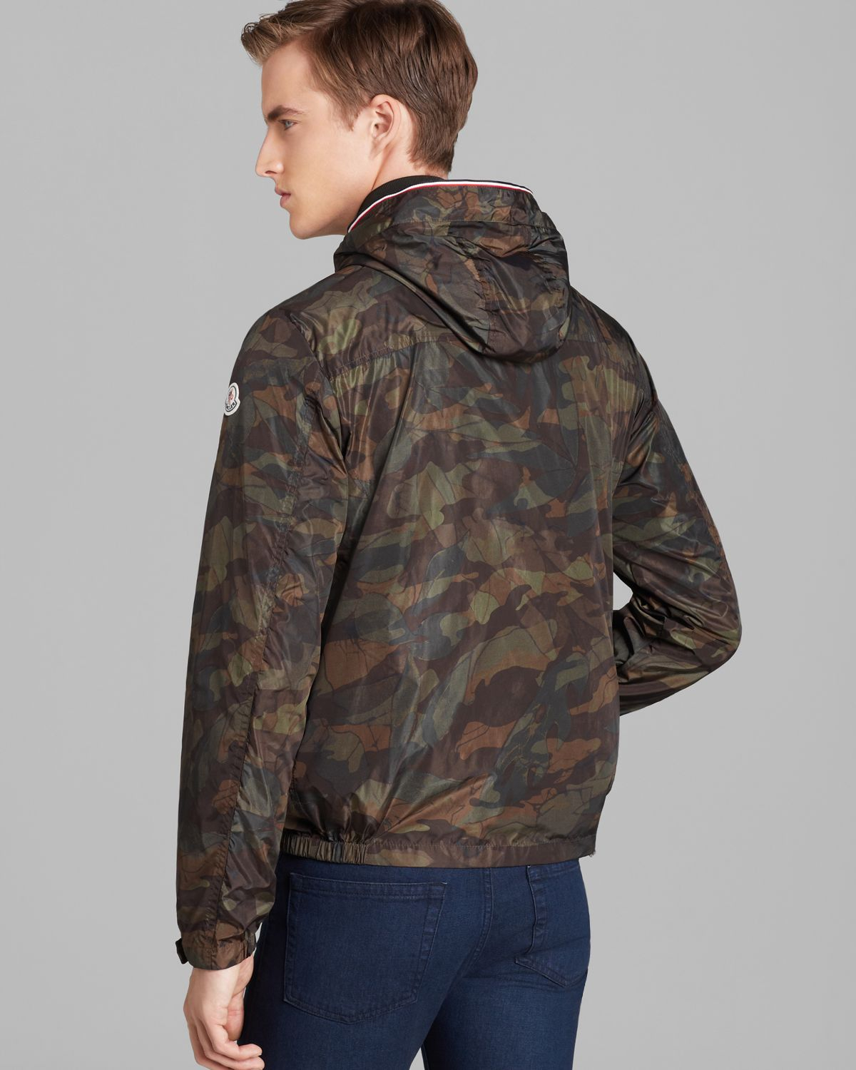 b31ed5a28f675 ... buy lyst moncler nath camo lightweight jacket in green for men 3052b  7b570