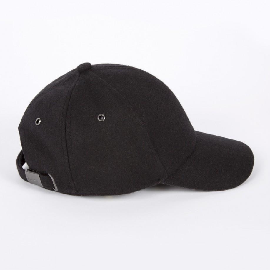 Paul Smith Men s Black Melton Wool Cap in Black for Men - Lyst 7381602c9d8