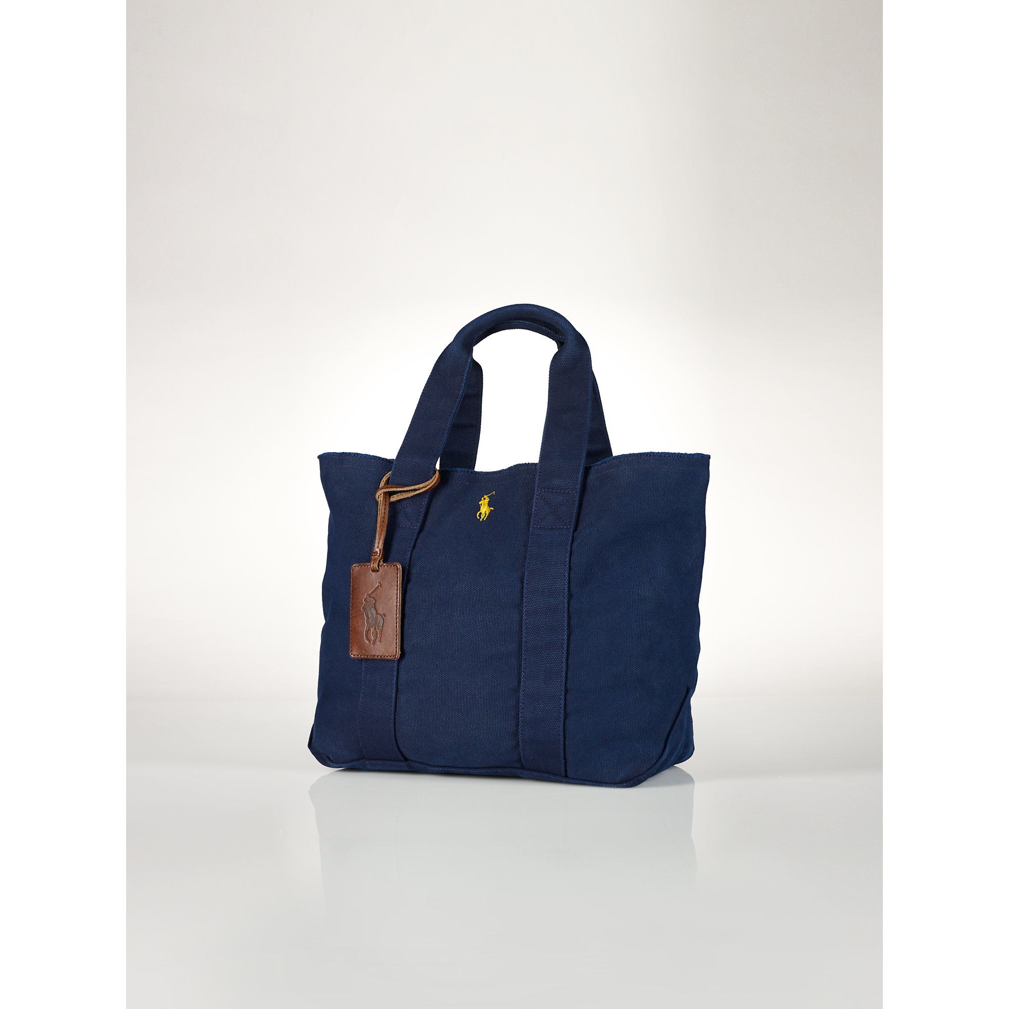 37555c4dc8 Lyst - Polo Ralph Lauren Cotton Canvas Tote in Blue