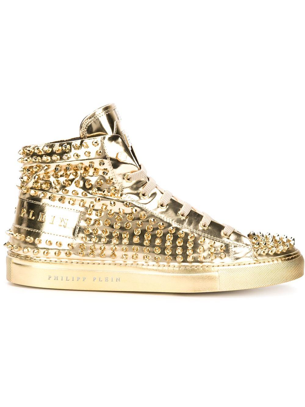 39de8ba09c Philipp Plein 'high' Hi-top Sneakers in Metallic for Men - Lyst