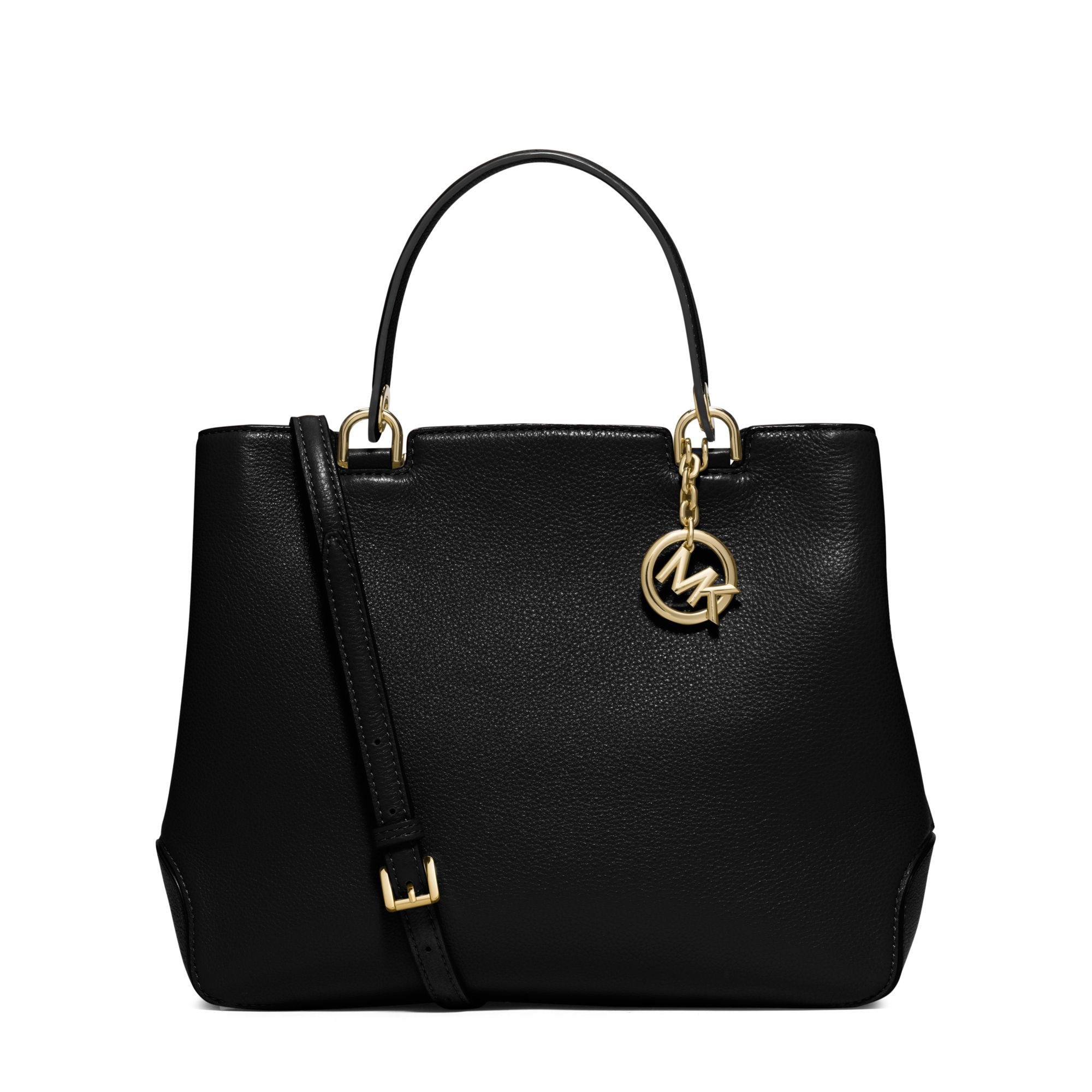 Michael kors Anabelle Large Leather Tote in Metallic | Lyst
