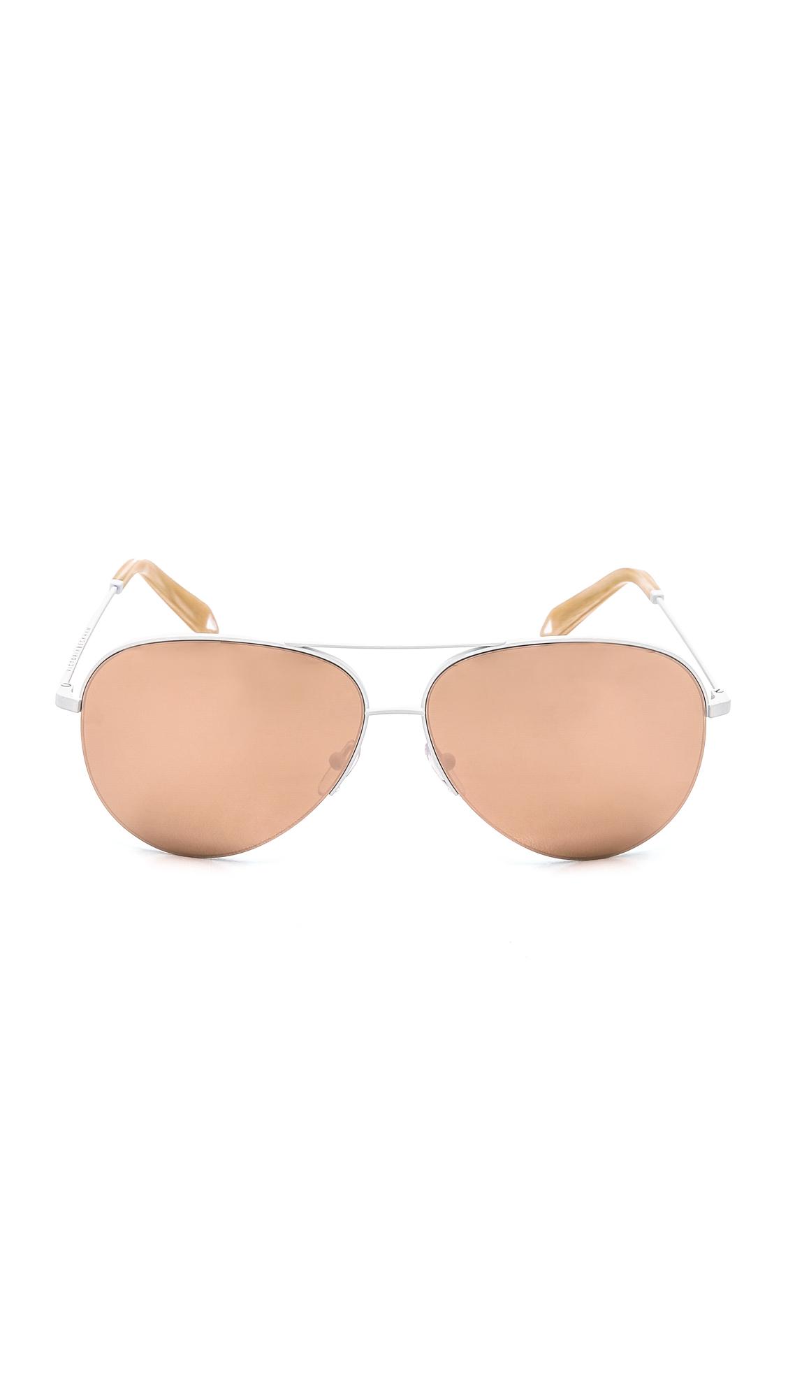 93ac433c6e2 Lyst - Victoria Beckham Classic Aviator Sunglasses in Pink
