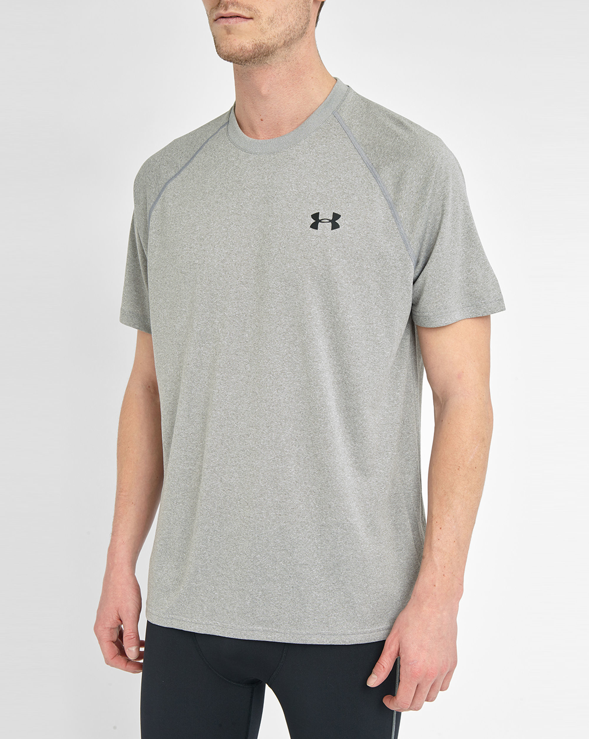 Under Armour Grey Tech Short T Shirt In Grey For Men Grey