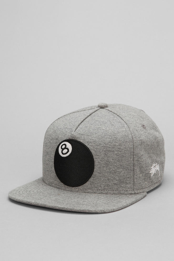 ac7c50cf6d61c0 Urban Outfitters Stussy 8ball Jersey Snapback Hat in Gray for Men - Lyst