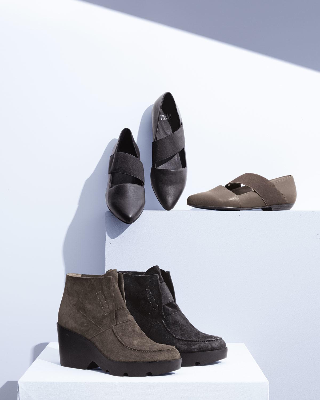 eileen fisher treat wedge desert boots in brown lyst