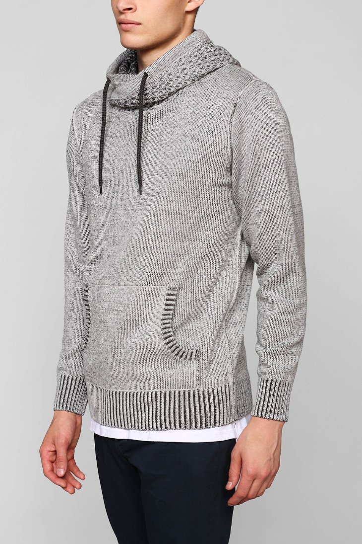 Commerce Cross-Neck Pullover Hooded Sweater in Gray for Men | Lyst