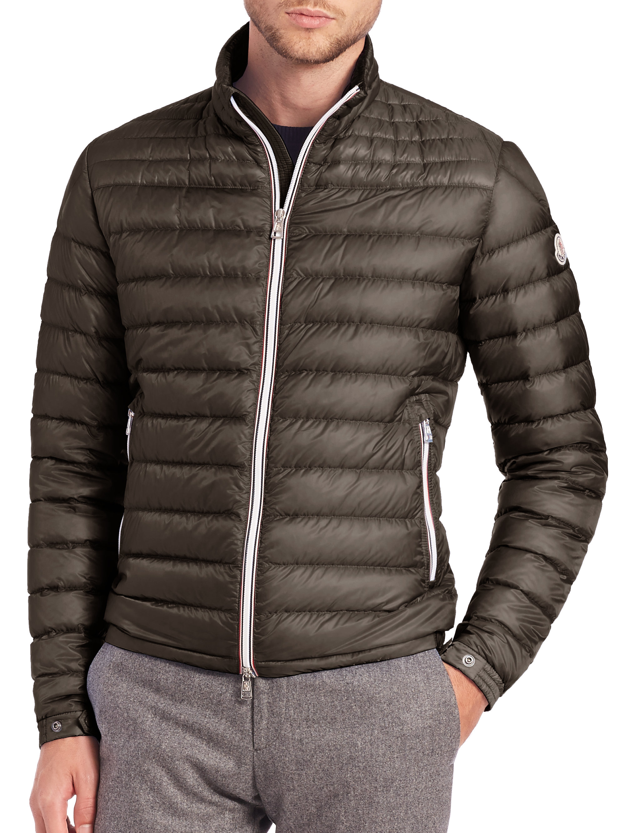 moncler daniel jacket in green for men lyst. Black Bedroom Furniture Sets. Home Design Ideas