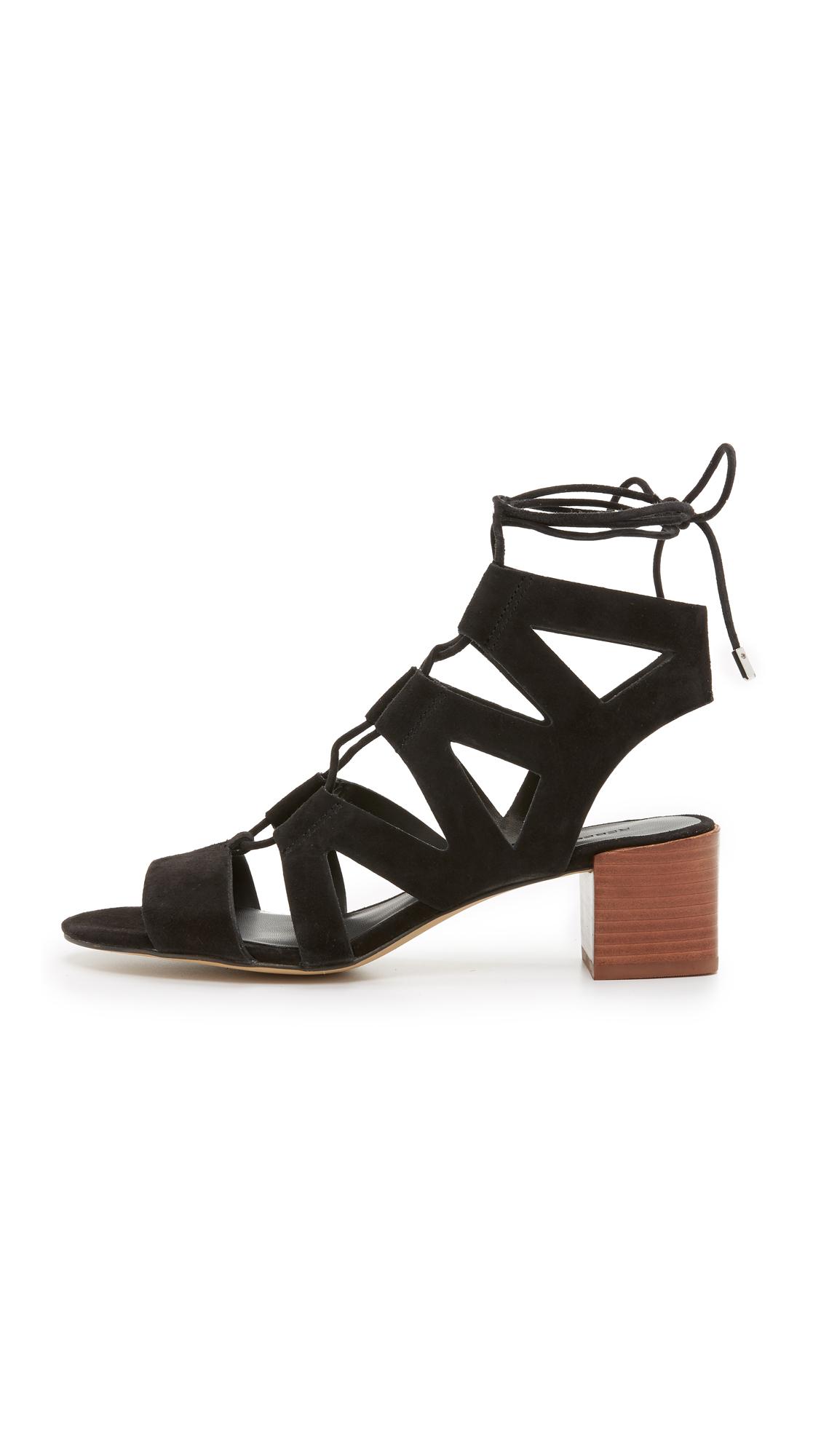 Rebecca Minkoff lace up low heel sandals cheap sale nicekicks SKwPcV0