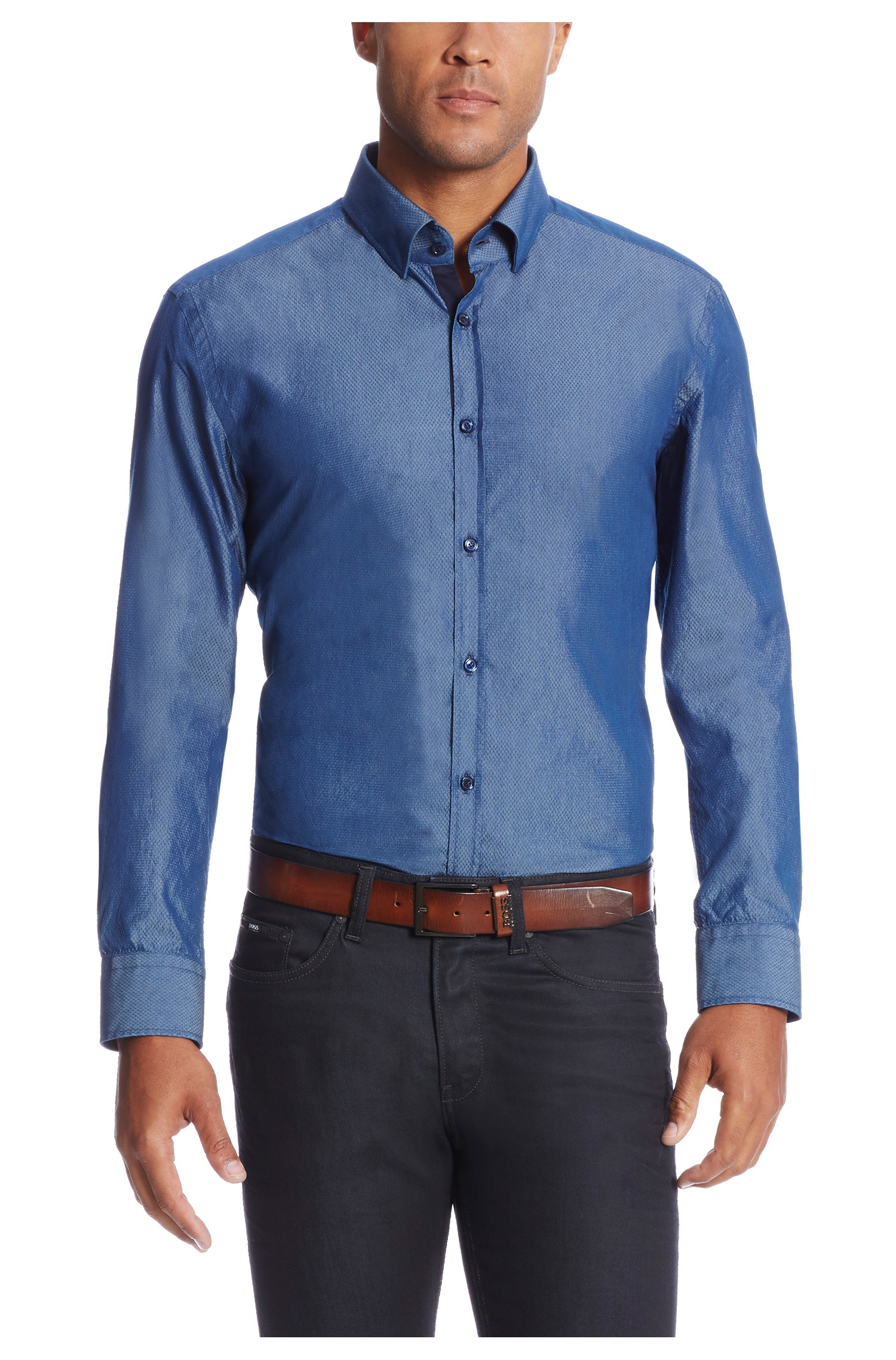 Lyst Boss 39 T Simon 39 Slim Fit Italian Silk Cotton