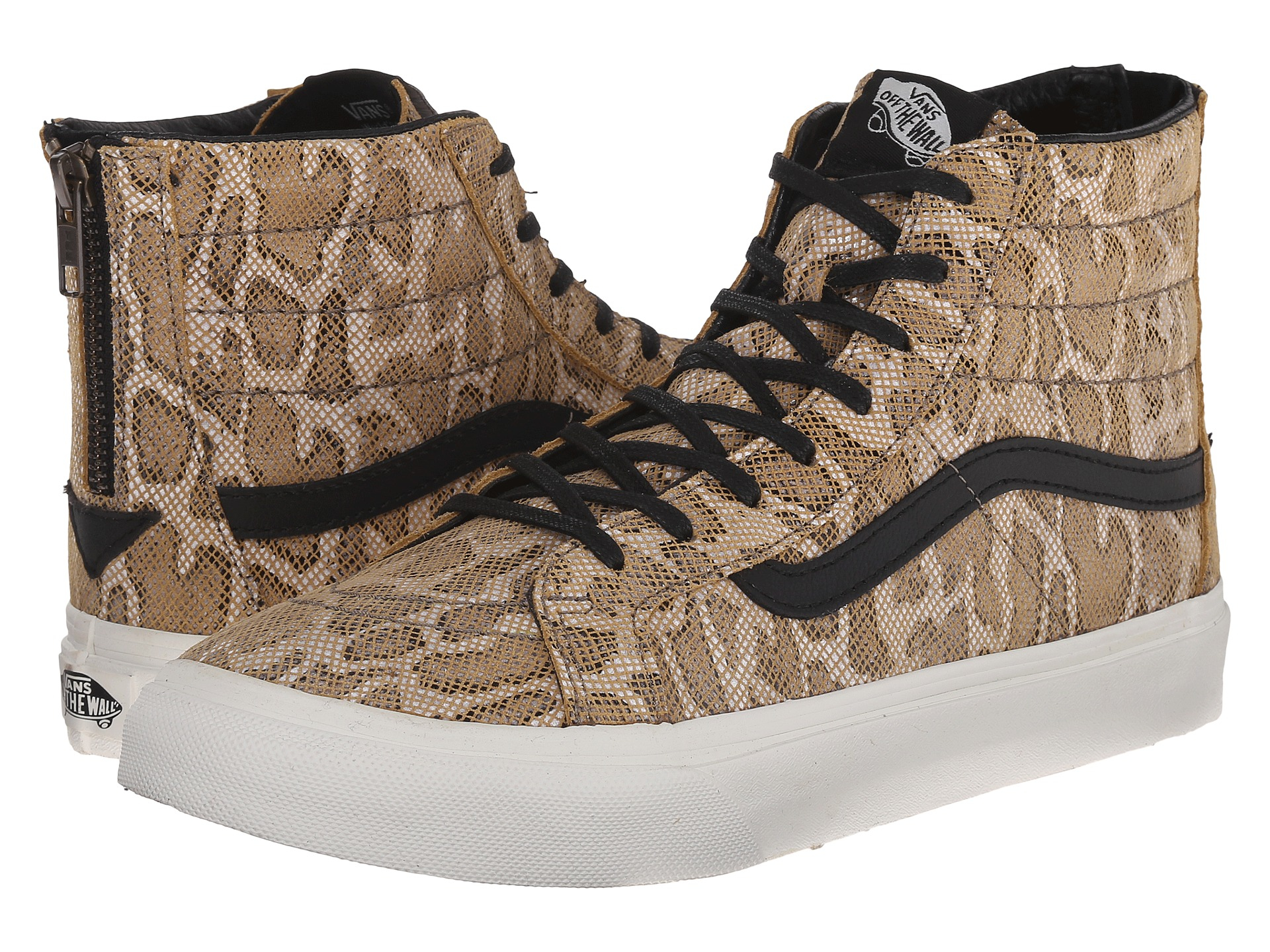 Unisex Shoes Vans SK8-Hi Slim Zip (Snake) Tan