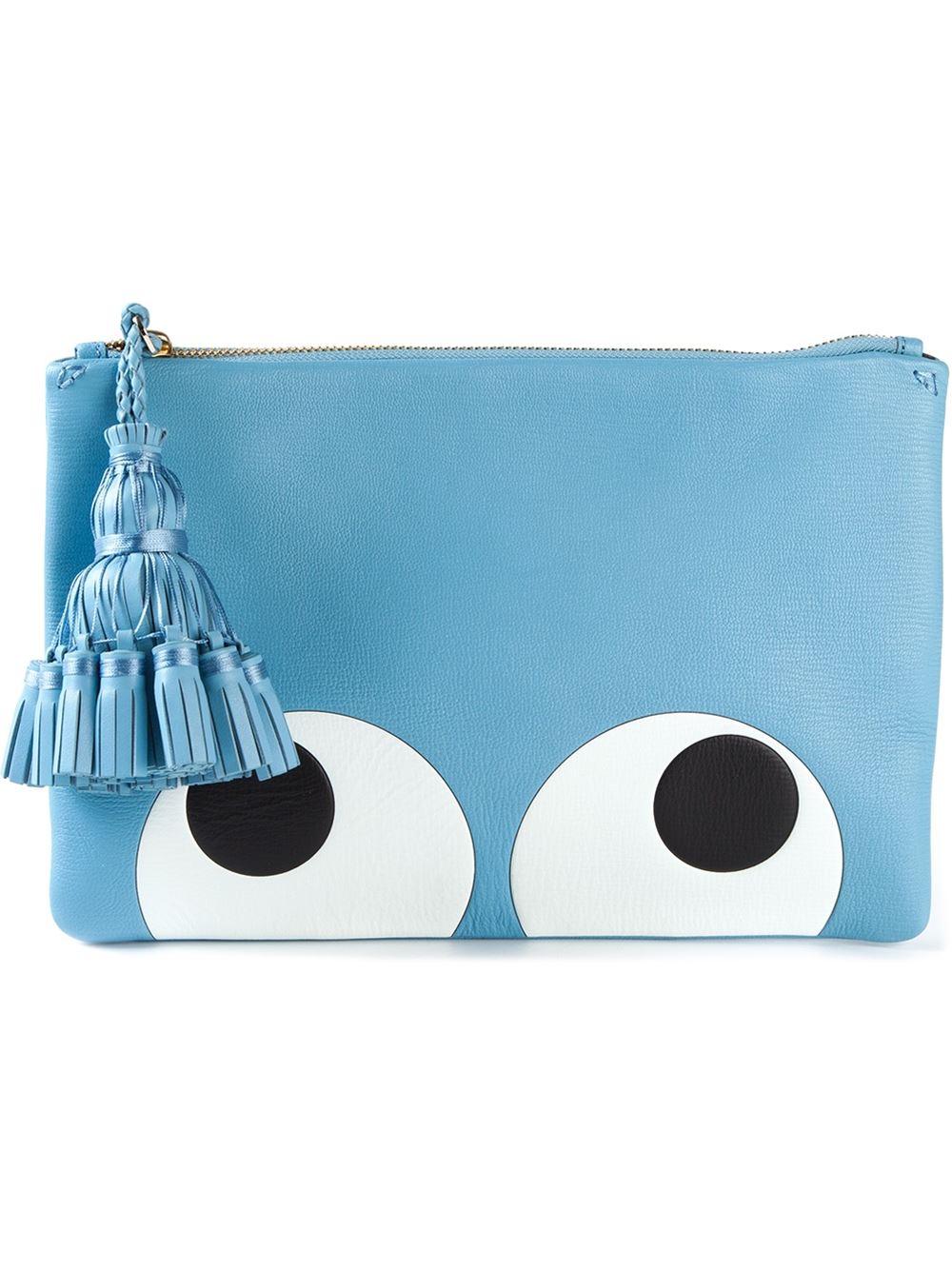 Anya Hindmarch Georgiana Clutch Bag in Blue - Lyst 1261e5b91828
