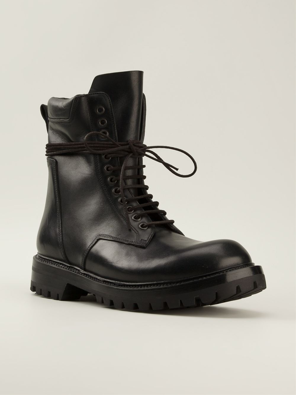 Rick Owens Combat Boots In Black For Men Lyst