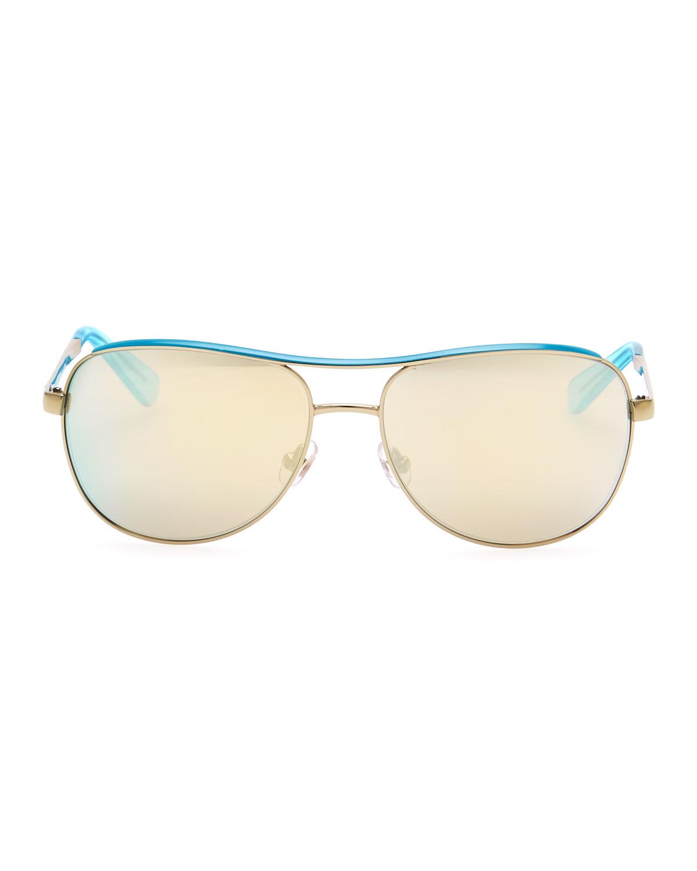 Kate spade Arianna Cat-eye Sunglasses in Gold