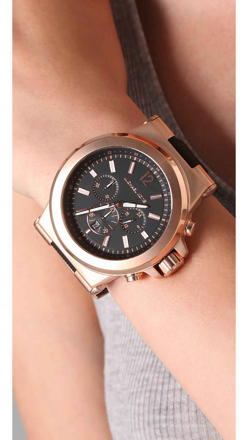 Watch Videos Music And Live Streams On The App: Michael Kors Large Dylan Watch