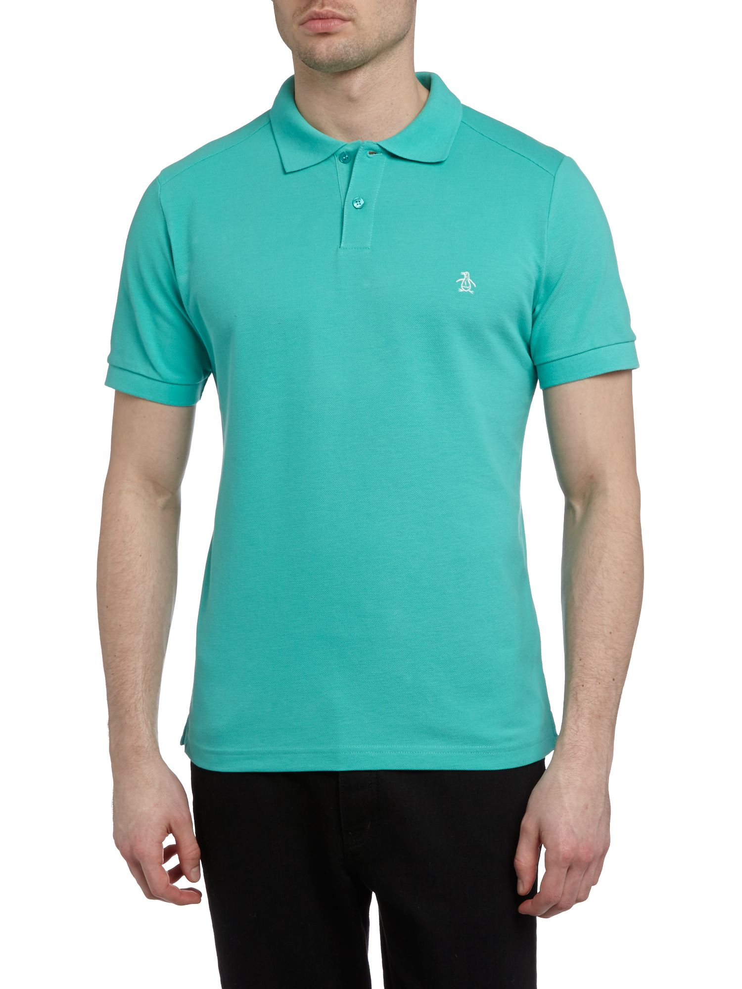 lyst original penguin slim fit daddy polo shirt in blue for men. Black Bedroom Furniture Sets. Home Design Ideas