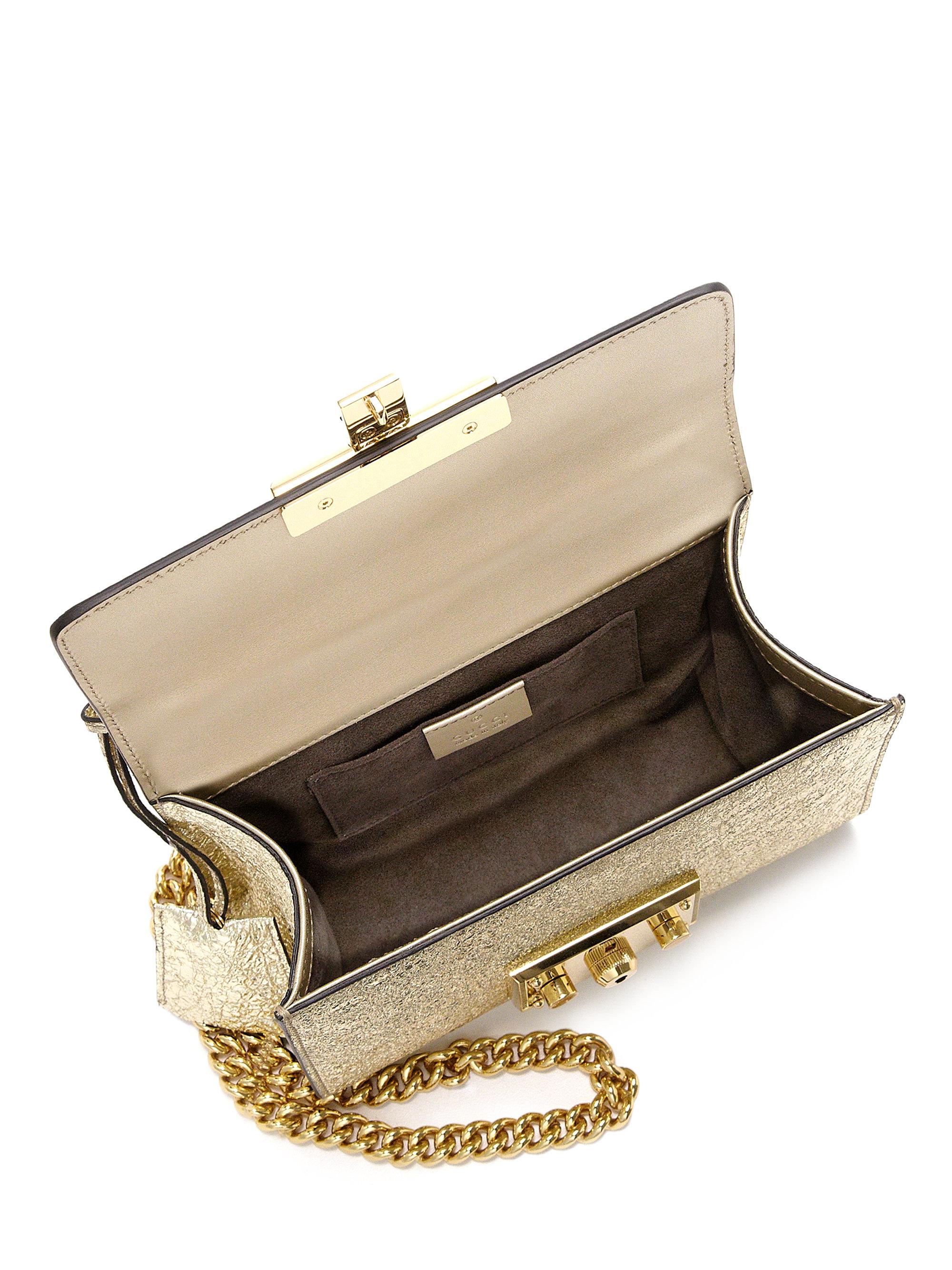 Gucci Padlock Metallic Shoulder Bag in Metallic