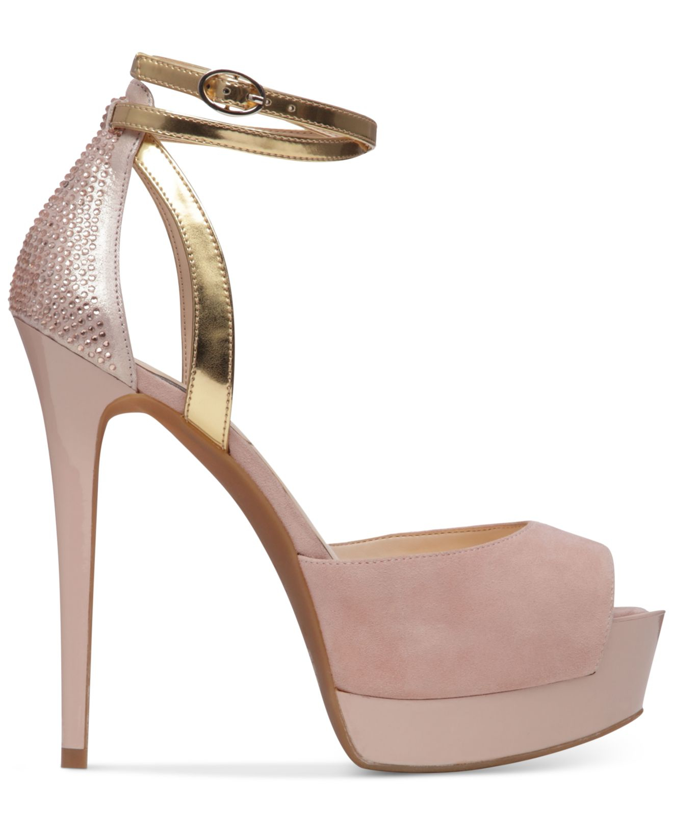 80e6e58324c5 Lyst - Jessica Simpson Koen Ankle-strap Platform Pumps in Natural