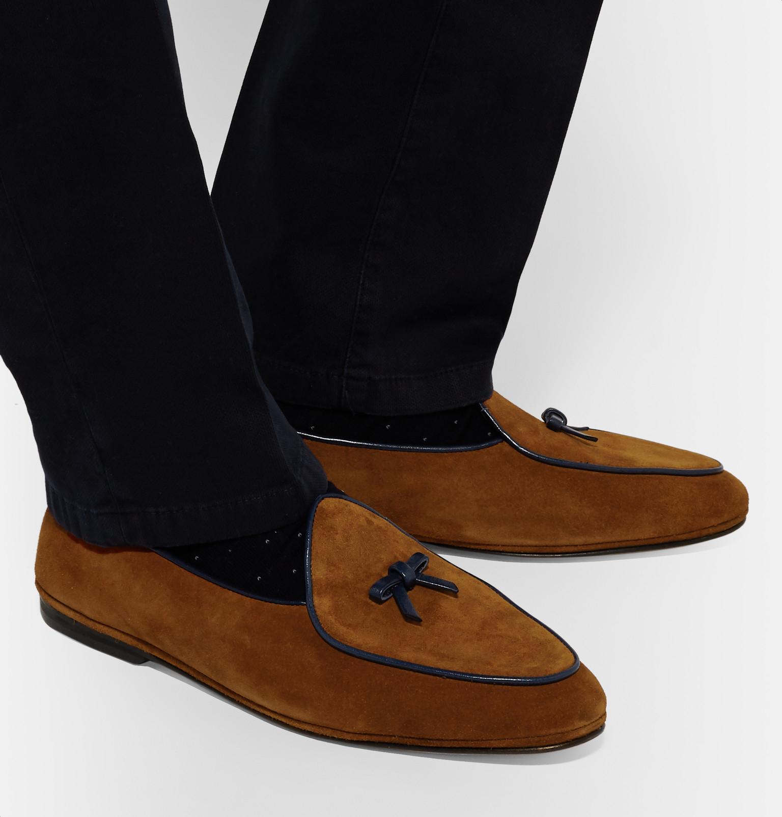 Black Marphy Suede Loafers Rubinacci 4vZXo