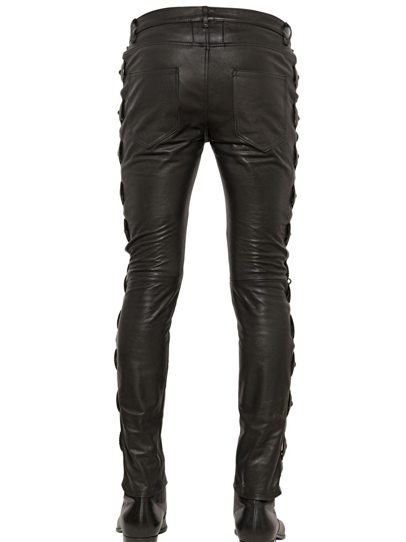 Lace-up leather trousers Saint Laurent 3DjPO