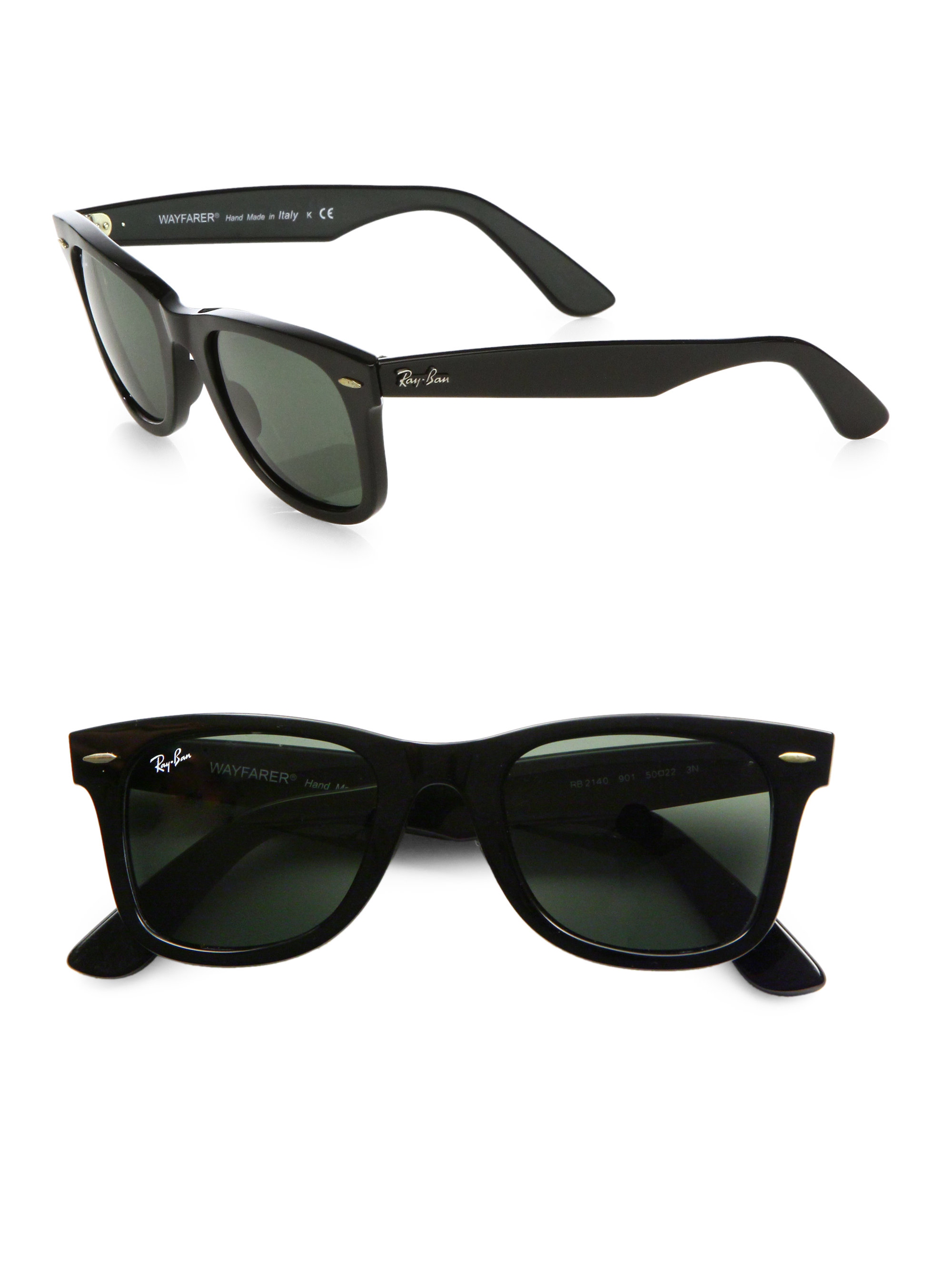 ray ban classic wayfarer sunglasses in black for men lyst. Black Bedroom Furniture Sets. Home Design Ideas