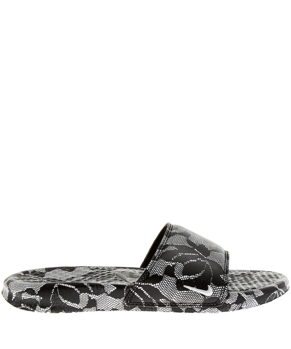 a3f9b7855 Lyst - Nike Black Benassi Lace Pack Slides in Gray
