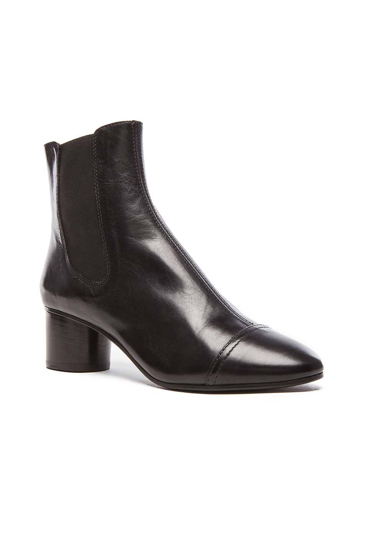 isabel marant danae chelsea leather boots in black lyst. Black Bedroom Furniture Sets. Home Design Ideas