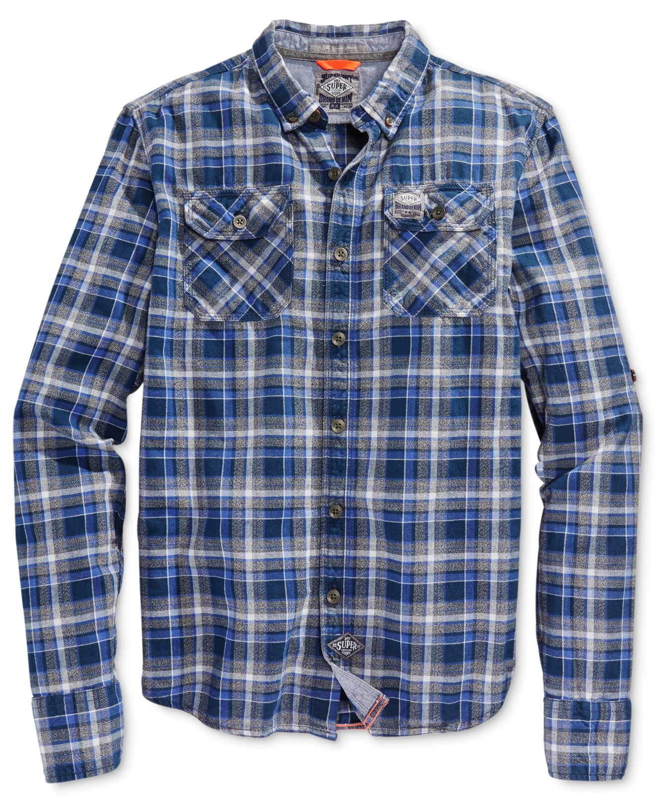 Latest Collections Online Grindlesawn Long Sleeve Shirt Superdry Buy Cheap Clearance Hot Xpe5L