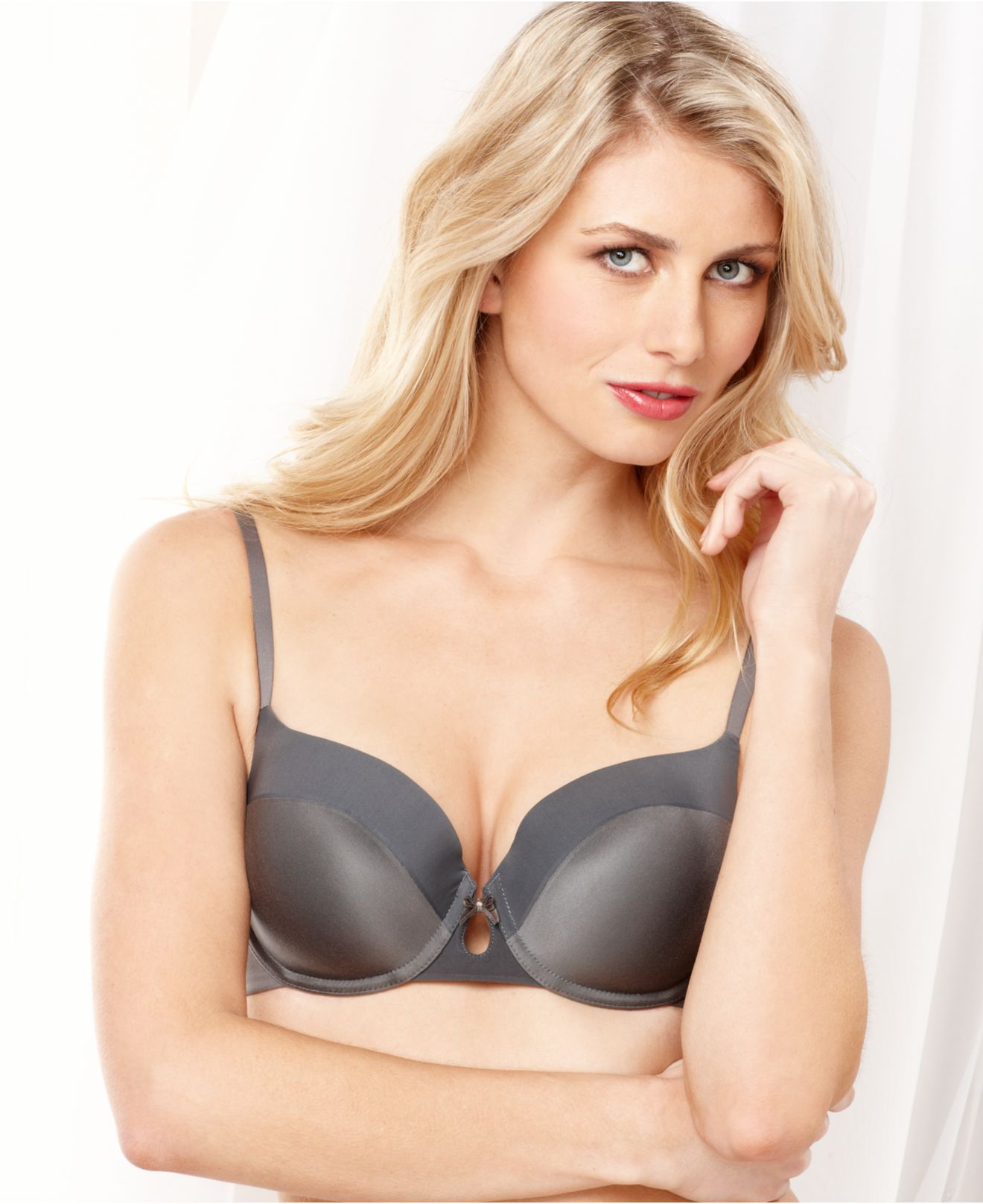 b094f6811 Lyst - DKNY Fusion Perfect Coverage T-shirt Bra 453200 in Gray