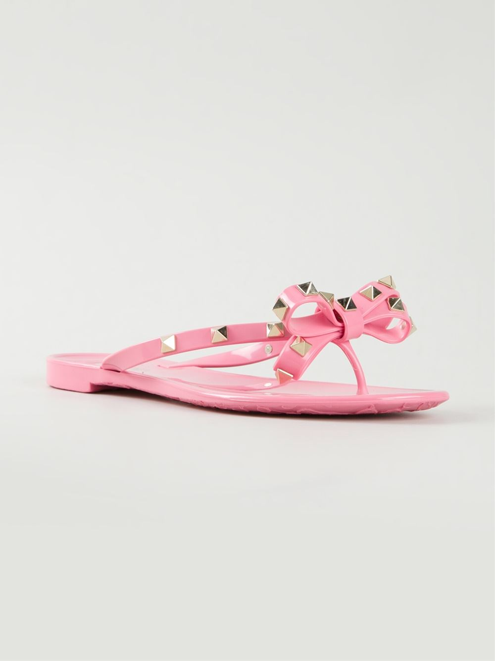 Lyst Valentino Rockstud Flip Flops In Pink
