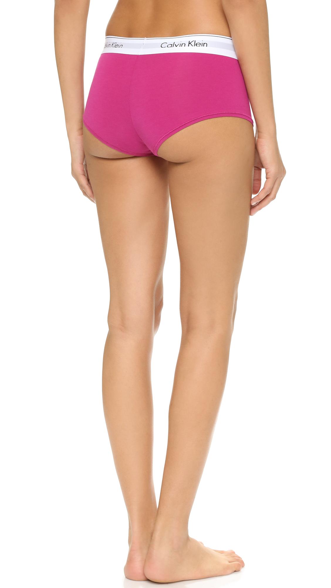 1f4cd10c7997f Lyst - Calvin Klein Modern Cotton Boyshorts - Pink Desire in Pink