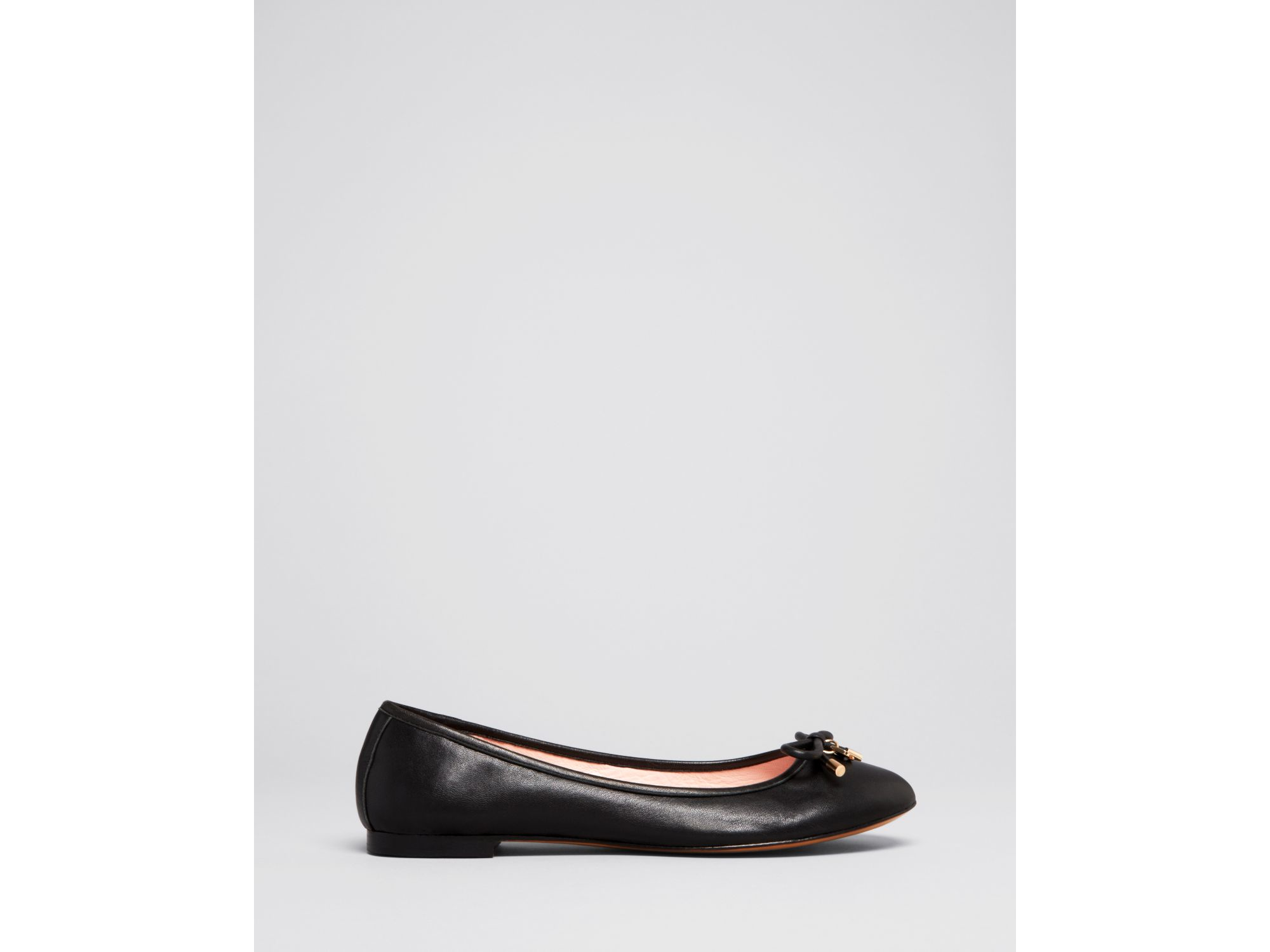 Kate spade new york willa bow ballet flats in pink lyst for Kate spade new york flats