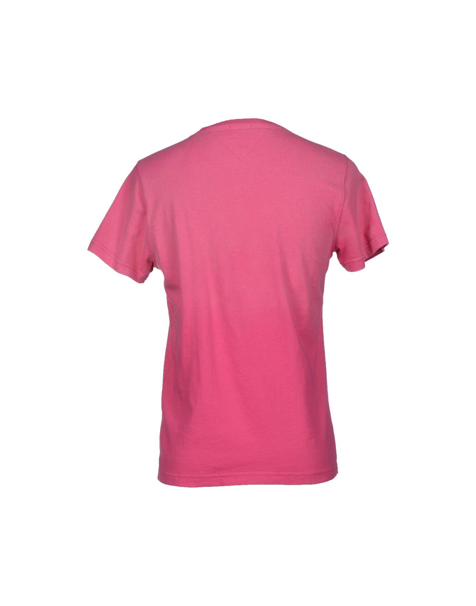 hilfiger denim t shirt in pink for men lyst. Black Bedroom Furniture Sets. Home Design Ideas