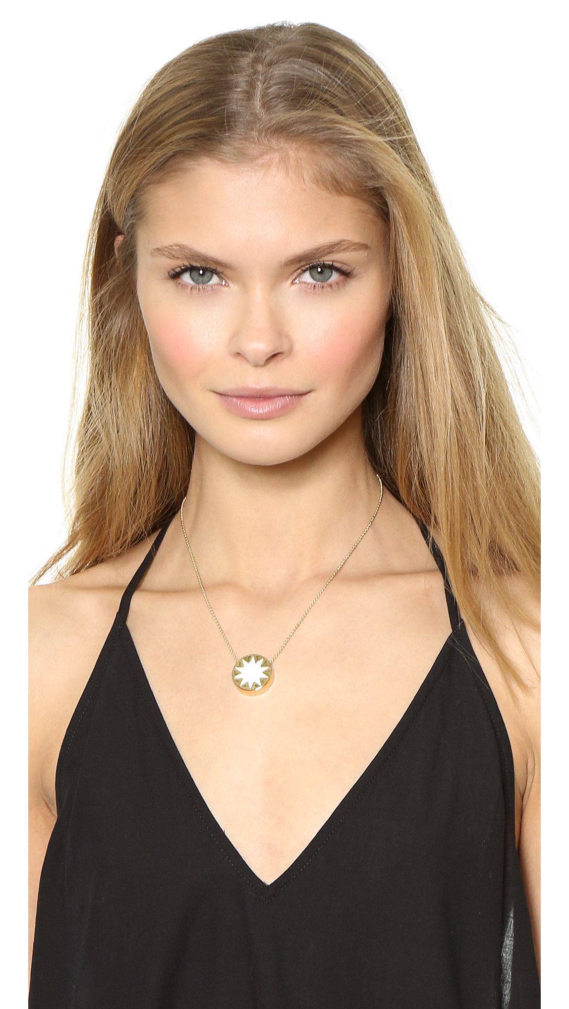 Lyst house of harlow 1960 mini sunburst pendant necklace in metallic gallery mozeypictures Image collections