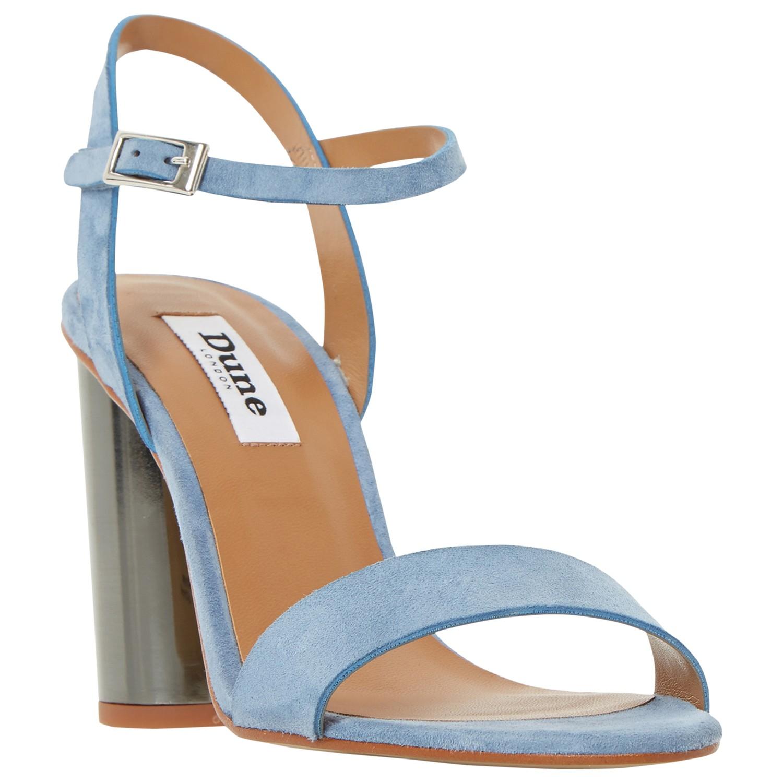 46ec9e201aa Dune Matylda Block Heeled Sandals in Blue - Lyst