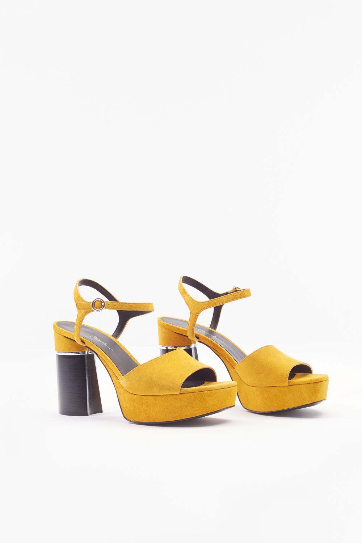 8612925c1b03 3.1 Phillip Lim - Yellow Ziggy Suede Platform Sandal - Lyst. View fullscreen