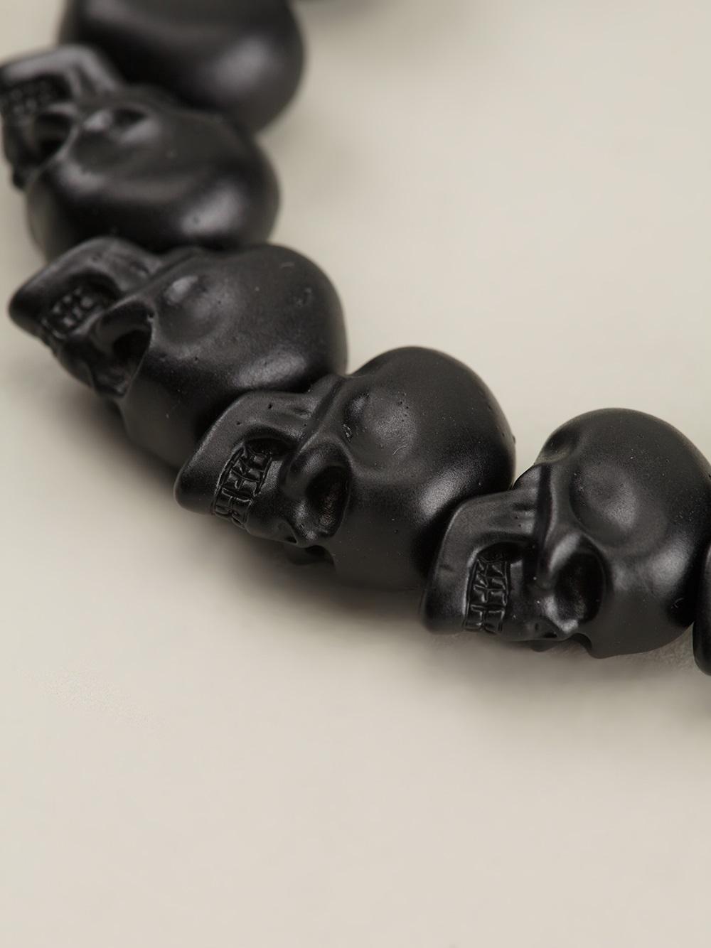 Alexander McQueen Skull bead bracelet g05Yqv0yFb